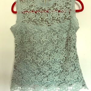 Aqua Lace Blouse